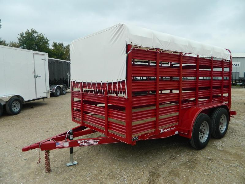 2018 TexLine 77 x 12 Mini Stock Livestock Trailer