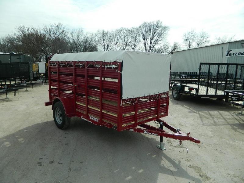 2018 TexLine 5 x 10 Mini Stock Livestock Trailer