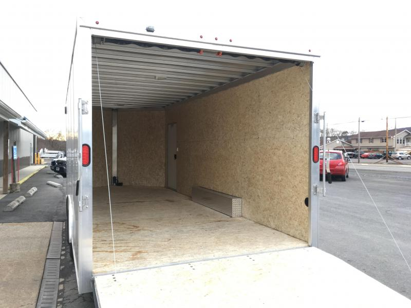 "2018 CargoPro Trailers C8x20S Cargo Trailer - Silver - 81"" Rear Door Opening"