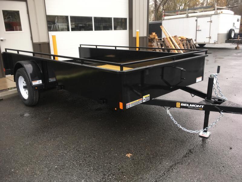 2018 Belmont Machine UT612SS Solid Side **BLACK** Utility Trailer