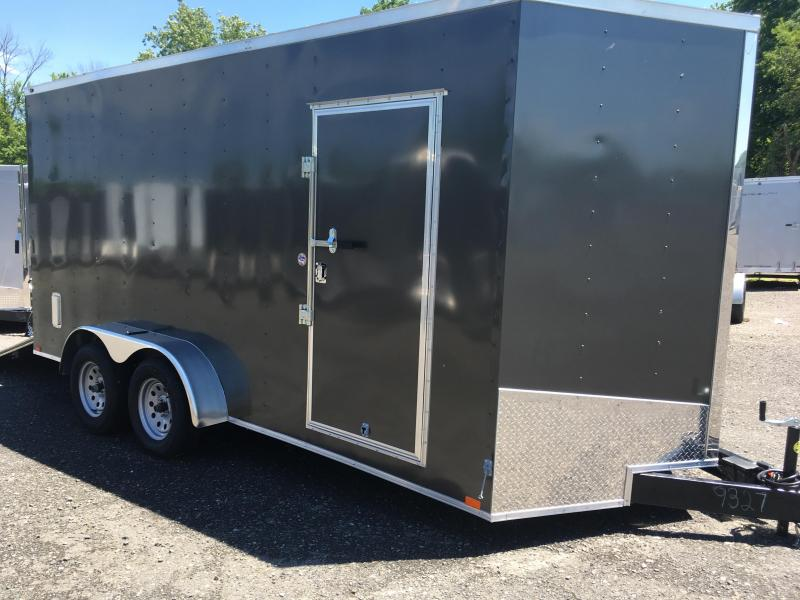 2018 Samson SP716TA Cargo Trailer - 80\  Door Opening - E-Track - Charcoal Gray & 2018 Samson SP716TA Cargo Trailer - 80\