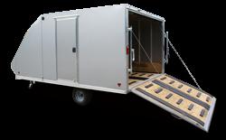 2018 CargoPro Trailers 101x12 Hybrid Snowmobile Trailer