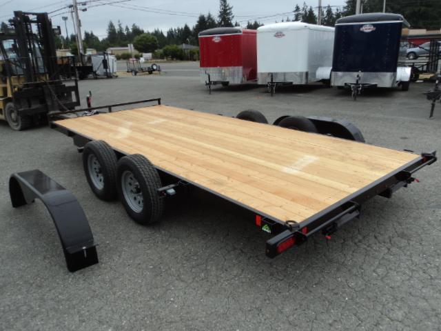 2018 Summit Alpine 7x16 7K Flatbed w/Removable Fenders Car / Racing Trailer
