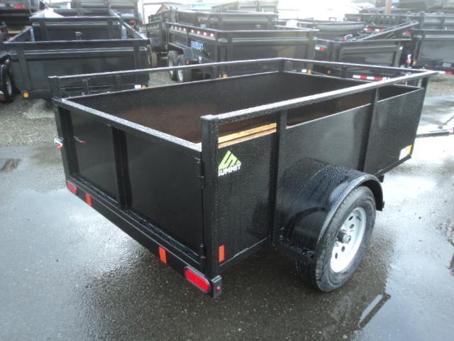 2018 Summit Alpine 5X10 Single Axle w/Swing Gate Utility Trailer