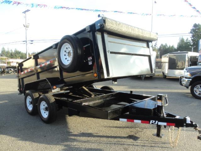 2018 PJ 7x14 14K High Side Dump Tarp Kit/Spare Tire/10K Jack