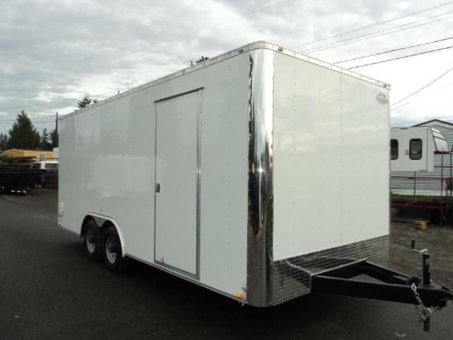2018 Cargo Mate E-SERIES 8.5X20 10k w/Rear Ramp and Additional Height