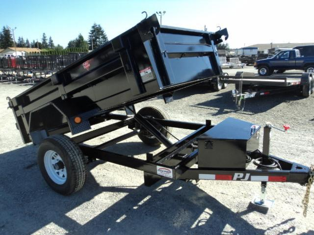 2018 PJ Trailers 5x10 5K w/Tarp Kit Dump Trailer