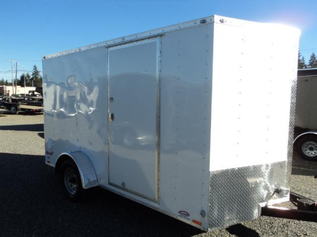 2018 Cargo Mate 7X12 V-NOSE WITH REAR RAMP DOOR Cargo / Enclosed Trailer