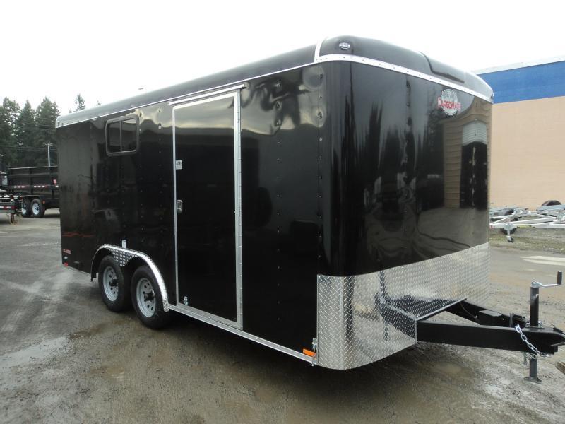 2018 Cargo Mate Blazer 8x16 7K w/110 Volt Package/Window/ and Ramp Door