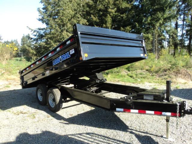 2018 Load Trail Pintle Hook 8X14 14K Deckover Dump/Tarp Kit/Ramps