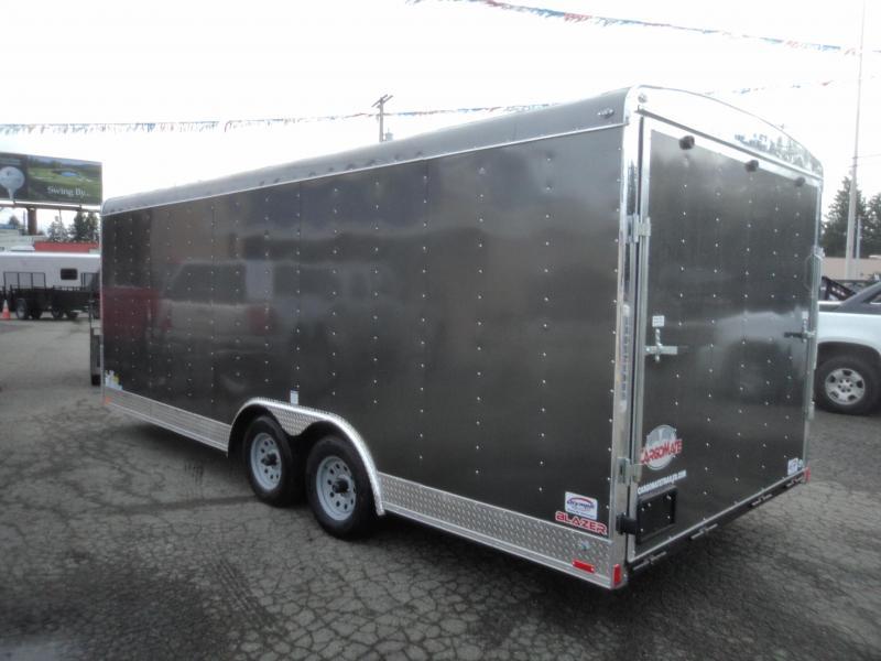 2018 Cargo Mate Blazer 8.5x20 7K w/Rear Ramp Door/5k Tie Downs