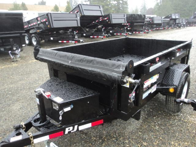 2018 PJ Trailers 5X8 5K Dump w/Tarp Kit/split gate