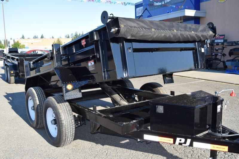 2018 PJ Trailers 5x10 7k w/Tarp Kit and Ramps Dump Trailer