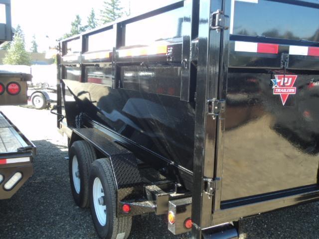 2018 PJ Rollster Roll Off 7x14 14K Dump w/Bin and Skid Deck