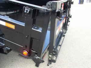 "2018 PJ Trailers 7x14 14k w/24"" Solid Side Extension kit Tandem Axle Dump Trailer"