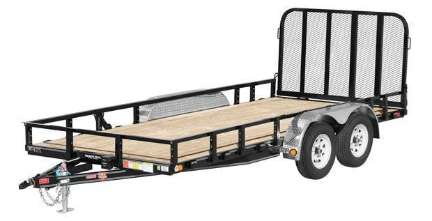2018 PJ Trailers 7x14 7K Utility Trailer w/Side Mount ATV Ramps