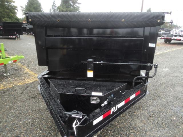 2018 PJ Low Pro XL High Side 7x16 14K/Tarp Kit/Spare Tire/10k Jack