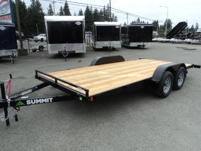 2017 Summit Alpine 7x16 7K Flatbed w/Removable Fenders Car / Racing Trailer