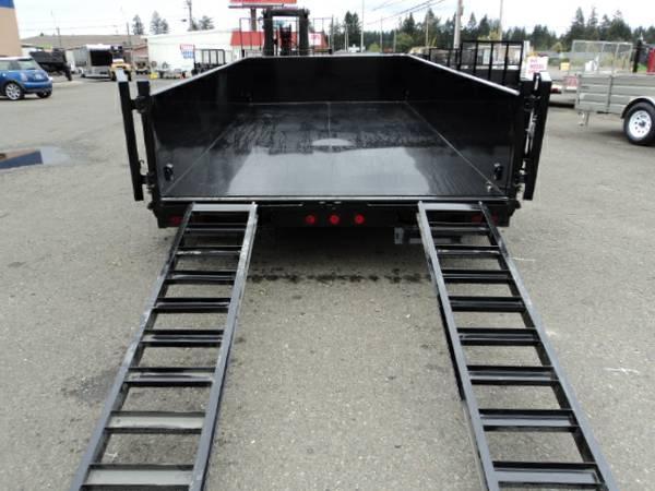 """2018 Load Trail 7X14 14K w/Tarp Kit/24"""" sides/Ramps Tandem Axle Dump (with scissor lift)"""