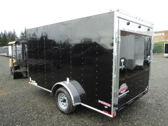 2018 Cargo Mate E-series 7X12 V-NOSE w/Rear Ramp Door