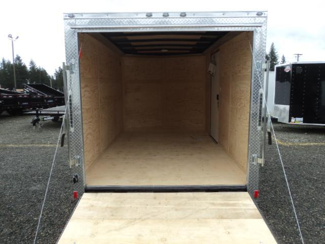 2018 Cargo Mate E-series 7X12 V-NOSE w/Rear Ramp Door
