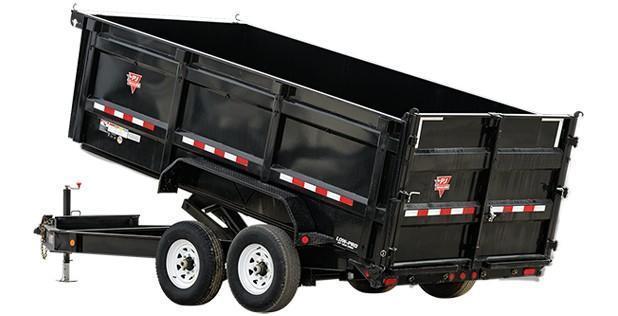 2018 PJ Trailers 7x14 Low Pro High Side Dump w/4ft Sides