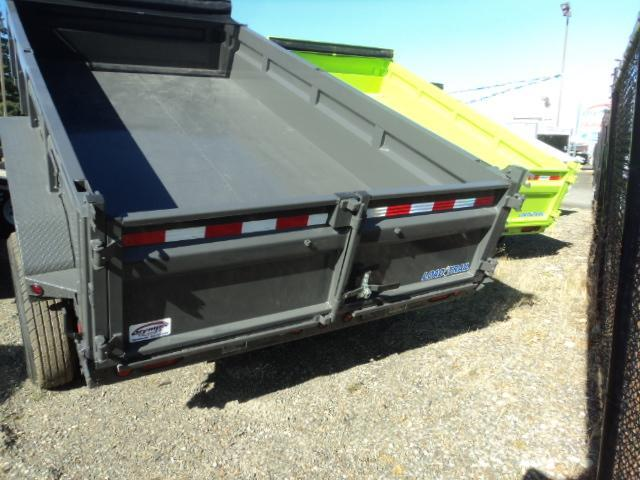 2017 Load Trail 7X14 14K Gray Tandem Axle Dump w/Tarp Kit/Ramps/Scissor lift