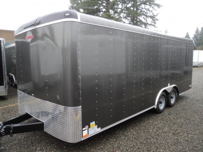 "2018 Cargo Mate Blazer 8.5X20 7k w/Ramp Door/24"" Stoneguard/D-rings/Ceiling Liner"
