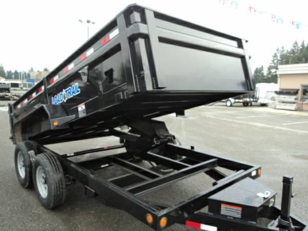 2017 Load Trail 7X16 14K Dump With Scissor Lift and Tarp Kit