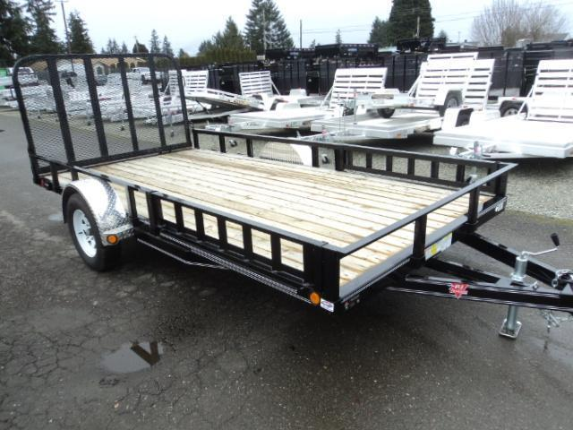 2017 PJ Trailers 7X12 Channel Utility w/Fold Up Gate and ATV Ramps