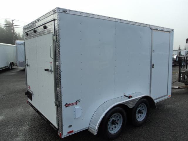 2018 Cargo Mate Trailers 7X12 V-NOSE WITH REAR RAMP DOOR Cargo / Enclosed Trailer