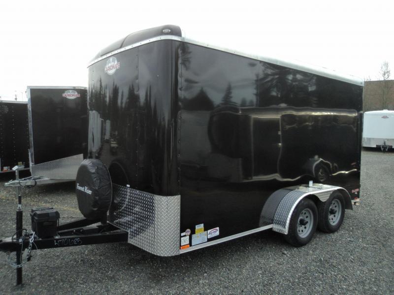 "2018 Cargo Mate Blazer 7x14 7K w/6"" Additional Height and Rear Ramp Door"
