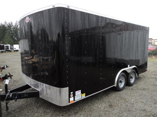 2018 Cargo Mate Challenger 8.5x16 7K w/Rear ramp door