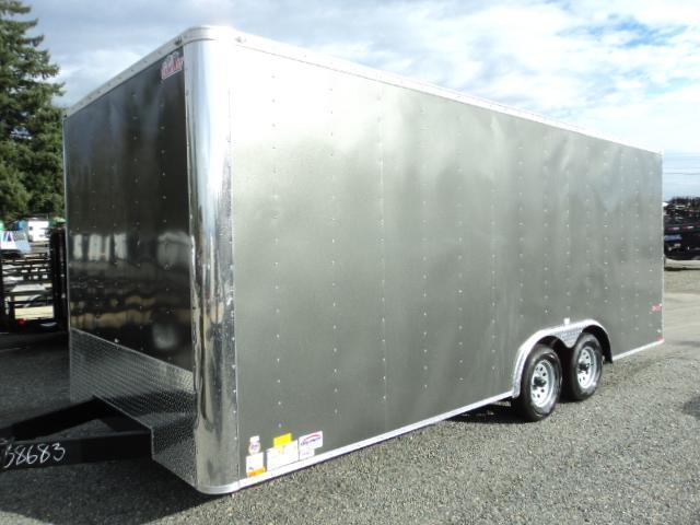 2018 Cargo Mate E-SERIES 8.5X20 7k w/Rear Ramp Door and D-Rings