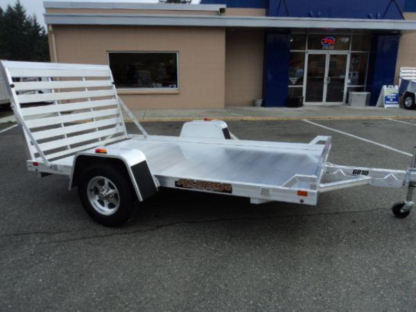 2017 Aluma 5.6X10 WITH REAR RAMP Utility Trailer