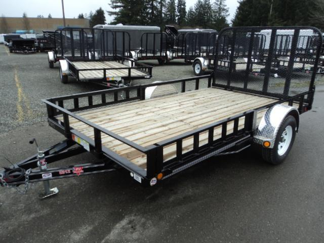 2018 PJ Trailers 7X12 with Side Mount ATV Ramps Utility Trailer