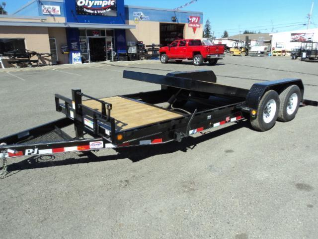 "2018 PJ Trailers 20' x 6"" 14K Channel Equipment Tilt Trailer"