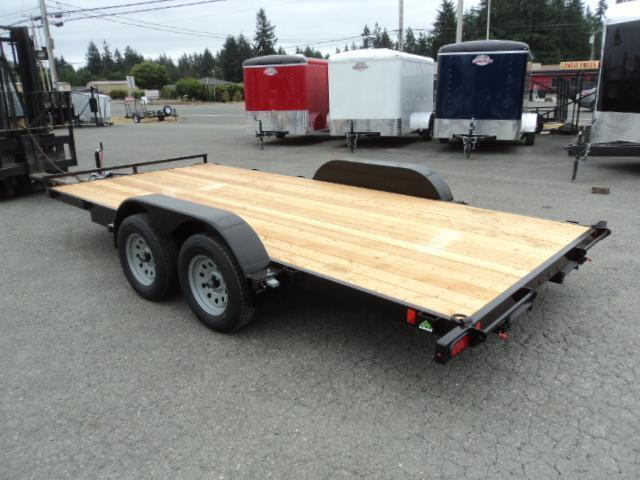 2018 Summit Alpine 7x16 7K Flatbed w/Removable Fenders Car / Racing Trailer