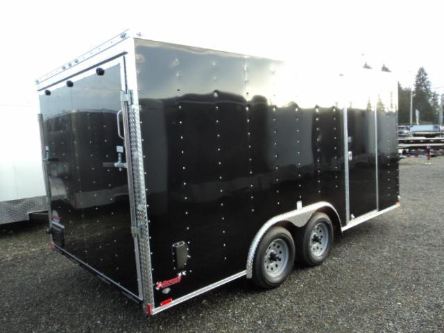 2018 Cargo Mate E-series 8.5X16 7K w/Rear Ramp Door/Window/Ceiling Liner