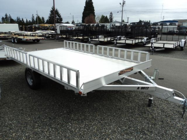 2018 Aluma 7X12 3 PLACE QUAD TRAILER