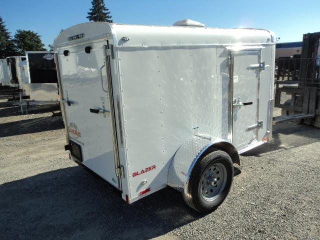"""2018 Cargo Mate Blazer 5x8 with 6"""" extra height/Rear Ramp Enclosed Cargo Trailer"""