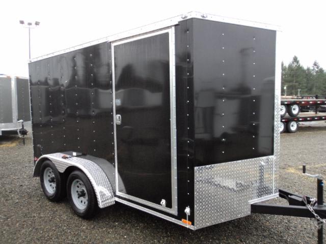 2018 Cargo Mate E-series 7X12 7k Wedge w/Rear Ramp Door