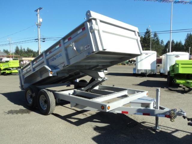2017 Load Trail 7X14 14K Silver Tandem Axle Dump w/Tarp Kit/Ramps/Scissor lift