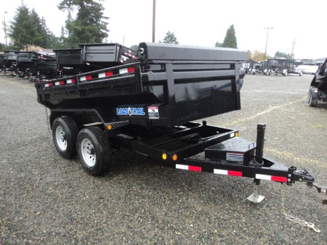"""2018 Load Trail 5x10 7K w/24"""" King Size Sides/Tarp Kit/Ramps Tandem Axle Dump"""