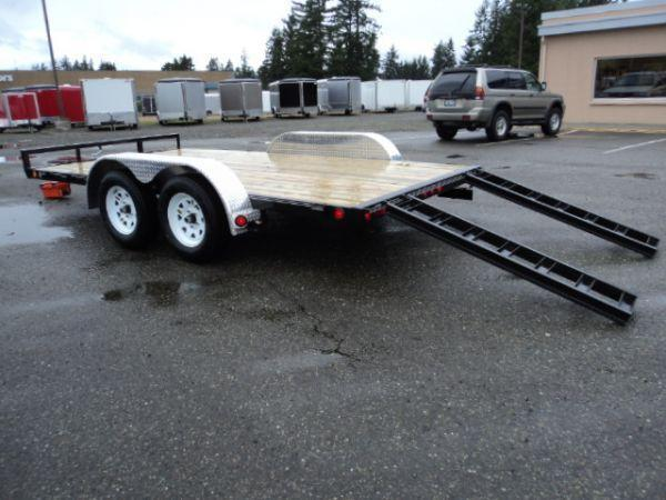 2018 PJ Trailers 7x16 7K w/Slide in Ramps Car / Racing Trailer