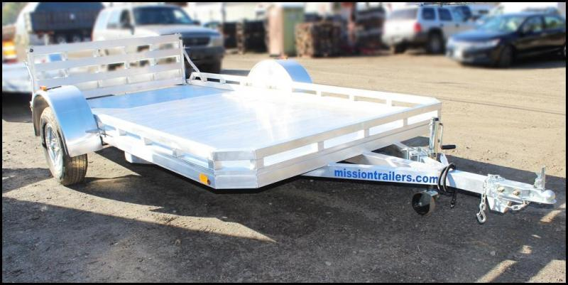 2018 Mission 6.5x12 Aluminum Utility Trailer