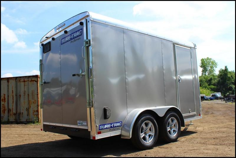 2017 Sure-Trac 7x12 Pro Series Round Top Enclosed Cargo Trailer