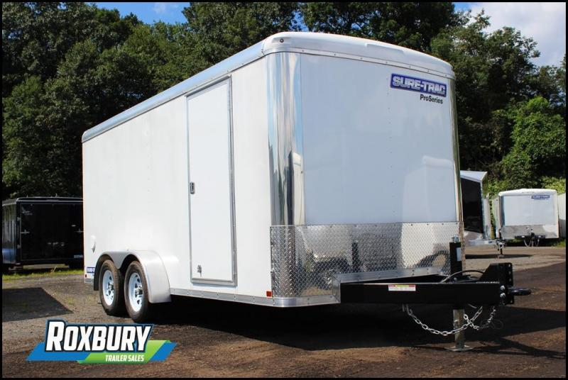 2017 Sure-Trac 7x16 7K Landscape Pro Round Top Enclosed Cargo Trailer