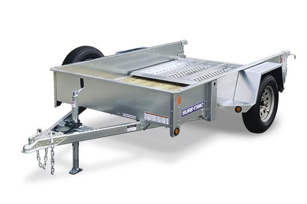 2018 Sure-Trac 5x8 Galvanized High Side Utility Trailer