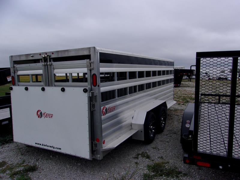 2015 Kiefer Built 18 Low pro Livestock Trailer